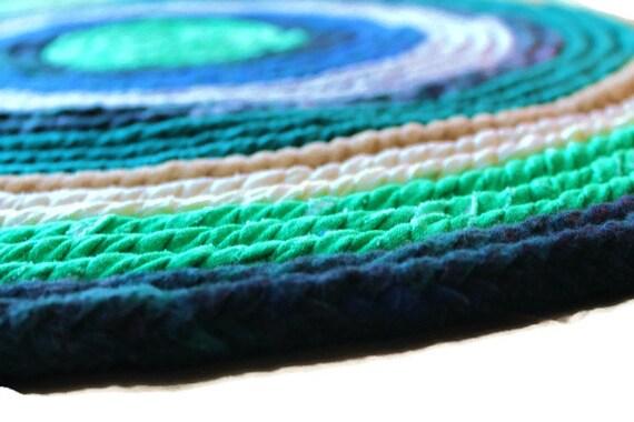 Viking rag tress e tapis rond main tiss avec tapis de chiffon Tapis rond tresse