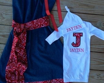 Beautiful maternity hospital gowns for sale We can also make a matching gown for baby Comfortable and pretty for the new mom