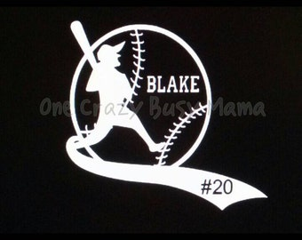 Baseball Player Decal