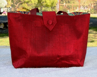 Silk Dupioni Tote for all occasions