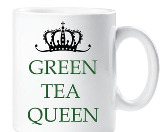 Green Tea Queen Ceramic Mug Cup Present Gift