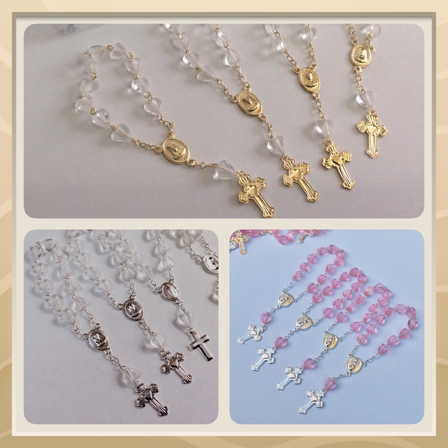 24 Mini Rosaries Approximately 4 Long Baptism Favors