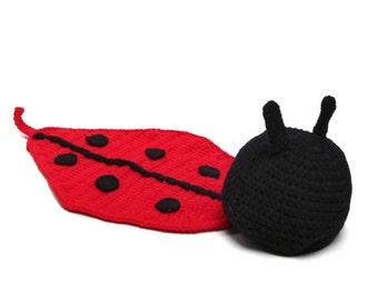 Ladybug Crochet Photo Prop Outfit