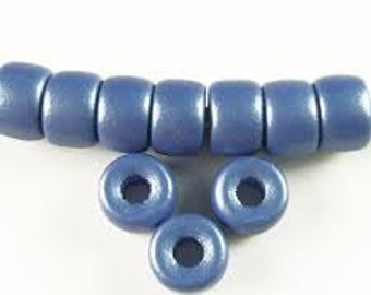 Glass Pony Beads / Crow Beads - 9mm - Matte Montana - Pack 20
