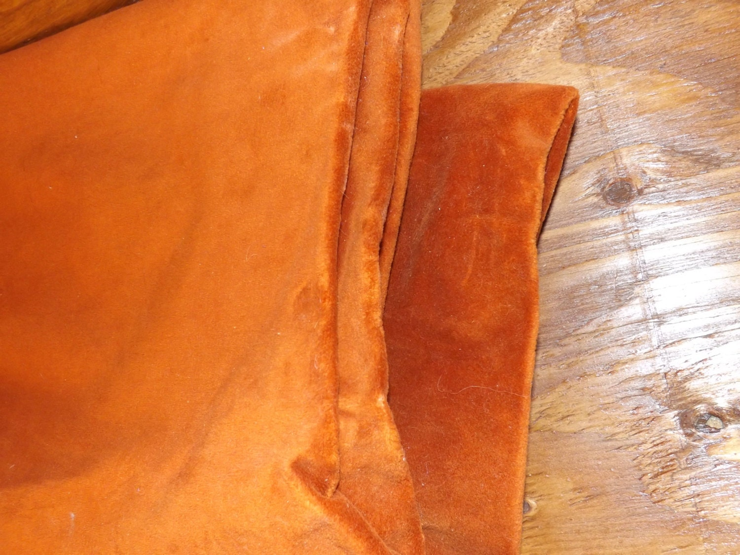 Groundhog Day Sale Vintage Upholstery Fabric Orange By