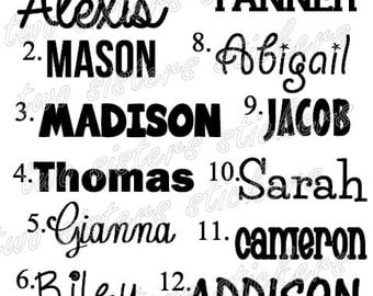 Personalized Name Decal Sticker