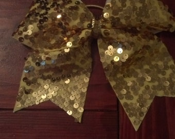 Shimmery Gold Sequin bow