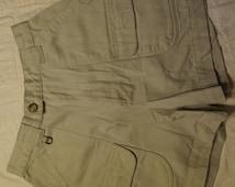 "Women's Vintage 90's Tan Shorts FREE SHIPPING Size Small Waist 24"" (Item H38) High Waisted Safari Cheenoz"