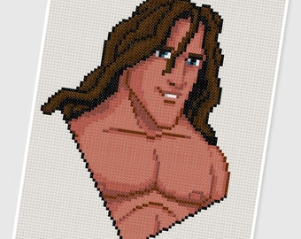 PDF Cross Stitch pattern - 0025.Tarzan - INSTANT DOWNLOAD