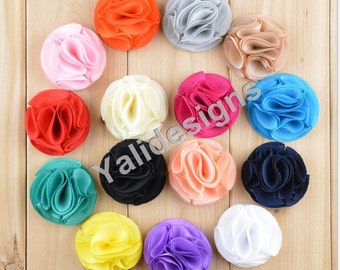 U Pick! 5.5CM 2.2'' inch Mini Chiffon  Flower For Girls Headband Accessories DIY Fabric Headband Shoes Accessories-Mixed Color-YTA57