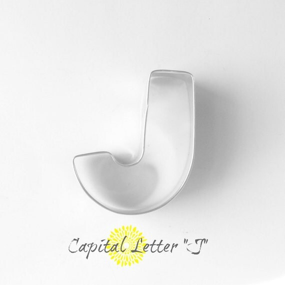 capital letter e cookie cutter from cookiecutterguy on capital letter j cookie cutter letter j by thebuttercuphouse 390