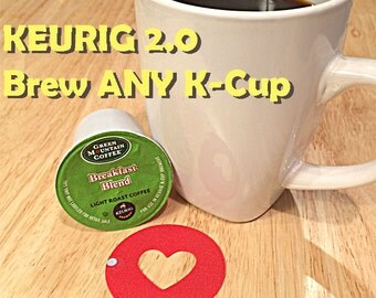 Reusable Keurig 2.0 Compatible K-Cup Silicone Coffee Ring- Save money and make your own coffee! Unique kitchen geekery!