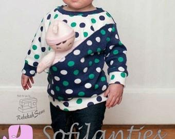 Otium Girls PDF sewing pattern sizes 12M to 14 Y
