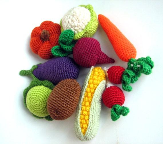 Crochet vegetables Made to order by BestAmigurumi on Etsy