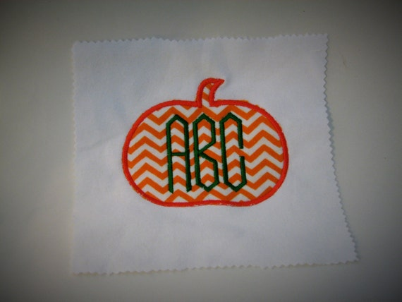 Pumpkin applique sizes for monogram fall by pattysappliques