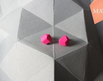 Blogger hipster minimalist geometric earrings pink