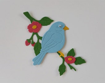 Bluebird and Branch Die Cut