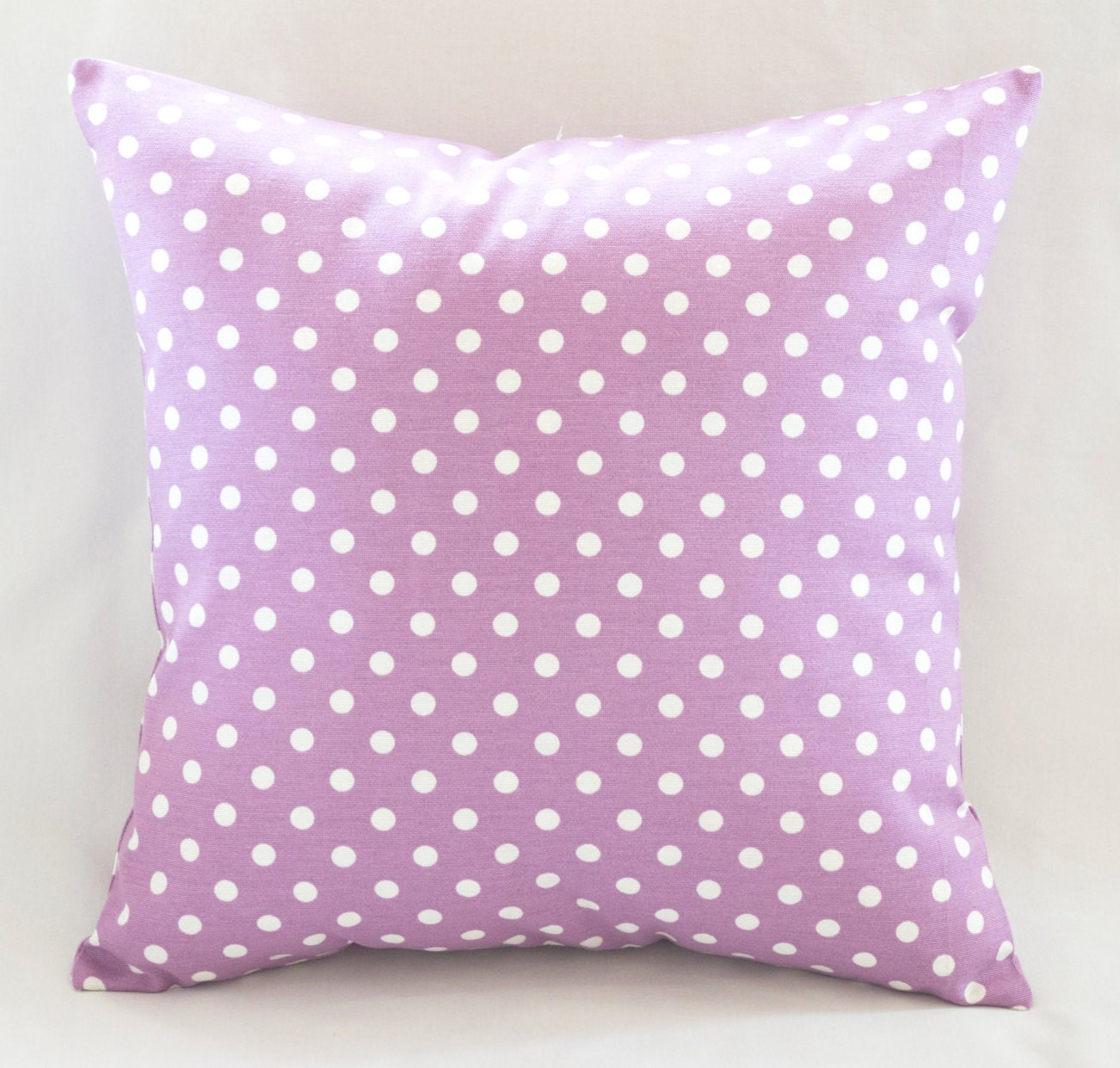 Lilac Polka-Dot Decorative Pillow Spotty Cushion by prettysurprise