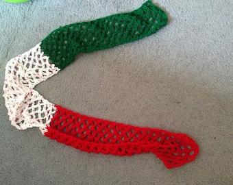 Crocheted italian scarf