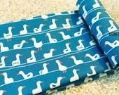 """Scandinavian Fabric - Duck Fabric - 43"""" x 35"""" - 100% Cotton - Scandinavian Pattern - Color Blue - KoreaBacol [#H0012]"""