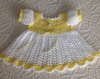 Crochet Dress 3 - 6 Mths PATTERN Mary