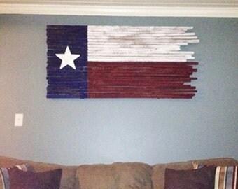 Hanging Flag On Wall texas flag wood texas flag rustic texas flag texas decor