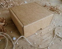 4 Pcs Squared Cardboard Boxes, 4.52''x4''x1.96'', Packaging, Scrapbooking, Favor Gift Packaging, Gift Boxes, Recycled Materials