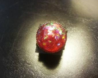 Handmade Fire Faerie Dust Ring, Fairy Ring, Fairie Ring, Fae Ring