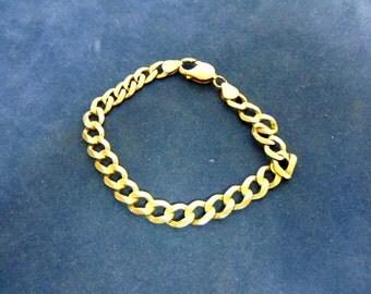 Vintage Estate 14K Yellow Gold Chain Bracelet 18.95g E1992