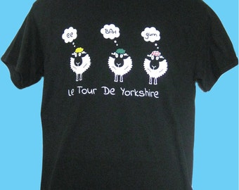 New Cycling Le Tour De Yorkshire / Sheep / 'ee BAH gum' Inspired T Shirt Top Mens ~ Funny