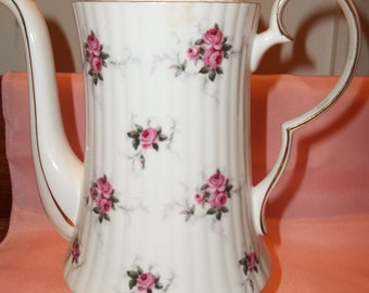 Vintage 16-Piece Hammersley Princess House Coffee Set for 6 - Pink Roses