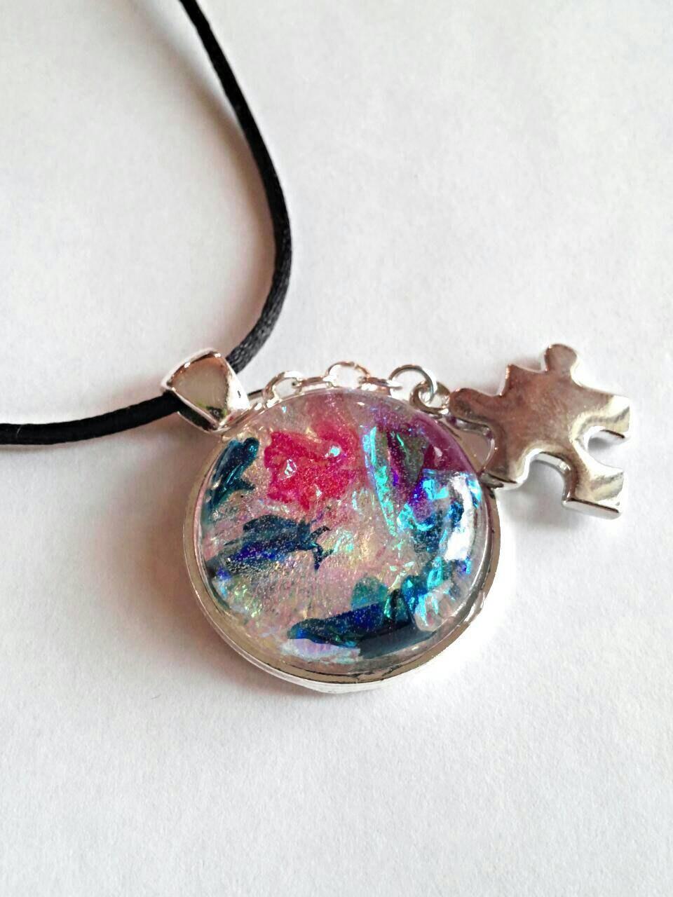 autism necklace autism awareness jewelry autism by genevassky