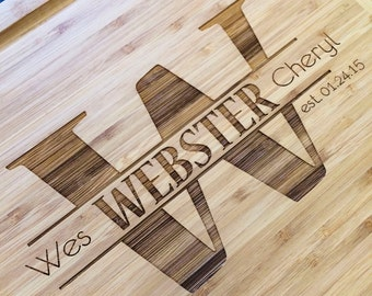 Engraved Wood Cutting Board- Great 5 year Anniversary Gift or Christmas Gift!
