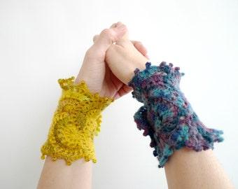 Crocheted Victorian Cuff Bracelet