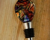 Dichroic Glass Wine Stopper