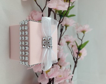 24 Pink Favor Box, Wedding, Bridal Shower, Party Favor, Candy holder, Gift Box