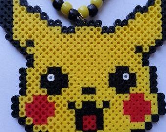 Pikachu Kandi Necklace//pokemon kandi necklace//pikachu