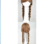 Fast shipping---Princess Anna Cosplay wig Anna wig Adult Cosplay wig