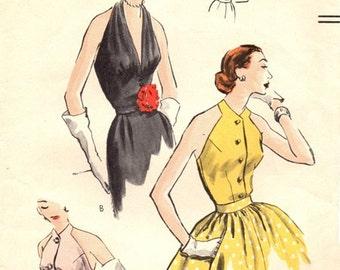 Vogue 7454 Eye Candy Halter Bodices 1952 / SZ14 COMPLETE