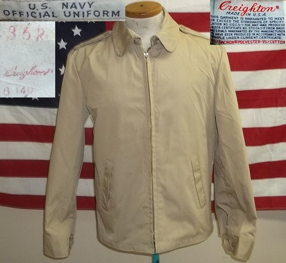 1980s USN US Navy service windbreaker jacket by restoredmilitaria