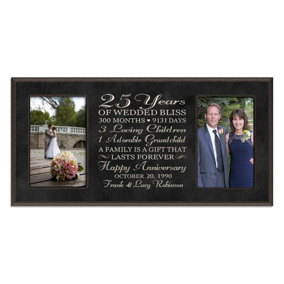 25th Wedding Anniversary Gift Ideas For Him: Personalized 25th Anniversary Gift For By DaySpringMilestones