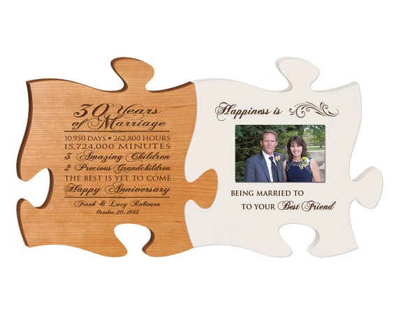 Gift For 30 Wedding Anniversary: Personalized 30th Anniversary Gift For Him,30th Wedding