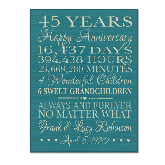 Wedding Gift 45 Years : 45th anniversary gift for him,45 year wedding anniversary gift ...