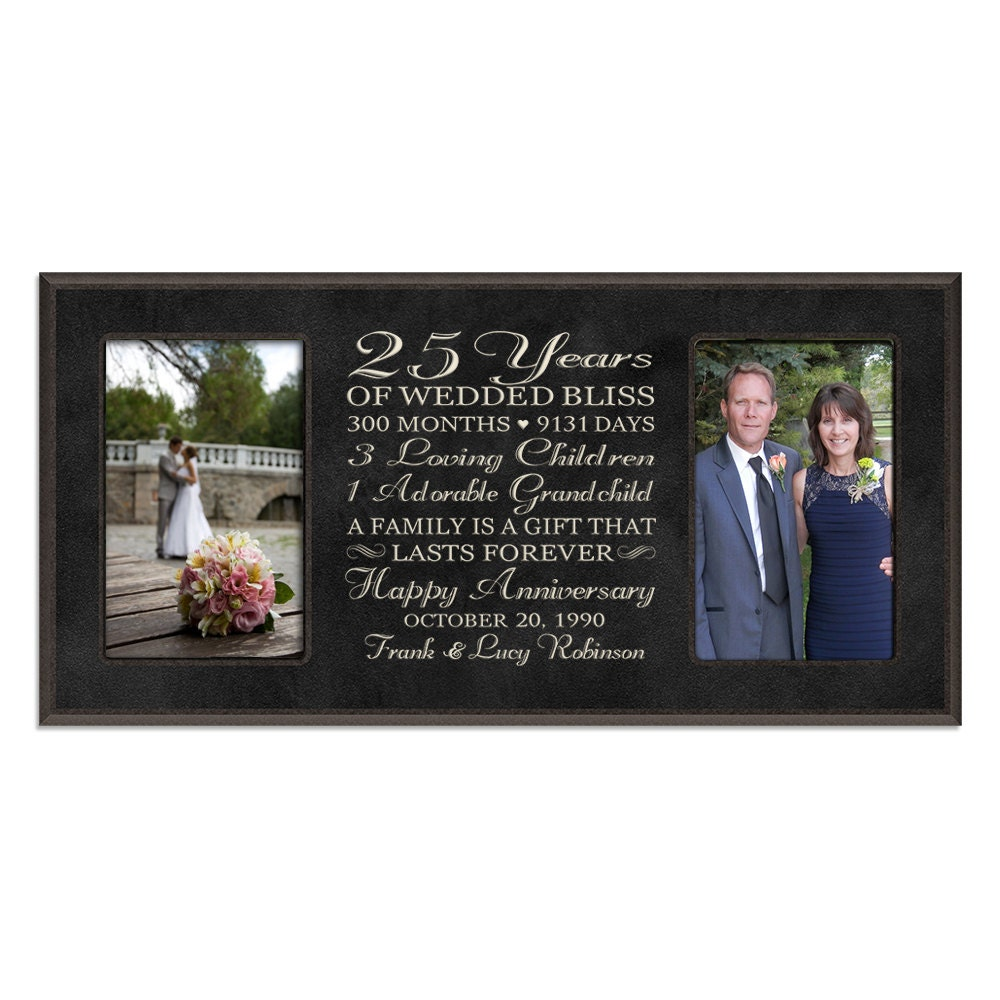 25th Wedding Anniversary Gifts: Personalized 25th Anniversary Gift For By DaySpringMilestones