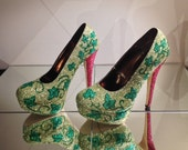 Poison Ivy Inspired High Heel Shoes