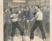 The Noble Art 19th century boxing print reproduction engraving