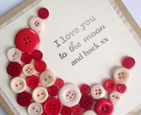 I love you to the moon and back card wife by lottieandlois for Creative mothers day ideas for wife