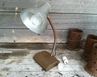 Vintage industrial desk lamp