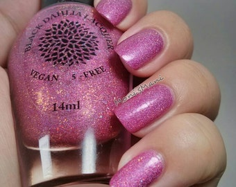 Shimmer Holo Micro Glitter Nail Polish by Black Dahlia Lacquer - Vibrant Poinsettias -- Holiday Collection