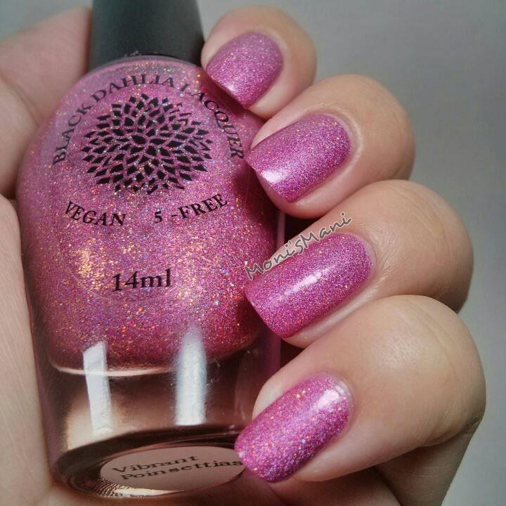 Shimmer Holo Micro Glitter Nail Polish By Black Dahlia Lacquer